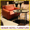 Lounge Sofa Faux Leather Accent Chair para o lobby do hotel