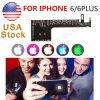 Leiden van het Embleem van de Gloed van de nacht Koele Lichte Achter voor iPhone 6s 6s plus het Veranderen van 7 & 15 Kleuren