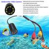 explorer sous-marin de la caméra vidéo 8LED de couleur grande-angulaire de câble de 25m/pêche