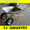 200 Kgの二重車輪Wb5009SDロシアの一輪車