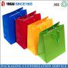 Bolsas de papel coloridas modificadas para requisitos particulares del arte de la laminación brillante