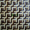 Mosaico della noce di cocco/mattonelle naturali all'ingrosso della parete dell'hotel delle mattonelle mosaico della noce di cocco