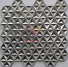 3D Silver Stainless Steel Made Hexagon Shape Star Like Mosaic Tile (CFM1002)