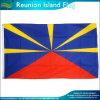 Wirtschaft-Polyester-Land-Reunion- Islandmarkierungsfahnen-Wiedervereinigung-Markierungsfahnen-Fahne (J-NF05F09052)