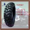 410-18 110/90-16 110/90-17 gute Qualität, schlauchloser Nylonreifen des motorrad-6pr
