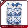 Покупатели Classicality голубые подгоняли цветастый белый мешок Kraft бумажный для одежды