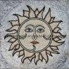 De Tegel van de steen/de Tegel van het Mozaïek/Marmeren Medaillon (mozaïek-113)