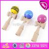 Het nieuwe Houten Stuk speelgoed Kendamas van de Kinderen van het Ontwerp Grappige voor Verkoop W01A192