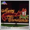 O metal ao ar livre do Feliz Natal da decoração do motivo da corda do diodo emissor de luz rotula a luz