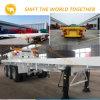 Heißer Flachbett-Behälter-halb Schlussteil des Verkaufs-Hersteller-3 der Wellen-40FT