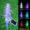 Luz feericamente solar da vara da árvore de Natal para a decoração ao ar livre do jardim