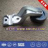 Maschinenteil-festes Gummilaufkatze-Rad/industrielle Fußrolle mit Metallwanne
