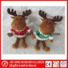 Мягкая игрушка с оленями небольшого размера для рождественских подарков