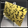 4mm Golden Yellow Colored Decorative Glass