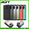 Híbrido a prueba de choques PC+TPU para la caja del teléfono celular de Samsung S6 (RJT-A085)