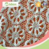 Tissu bon marché de lacet pour le tissu chimique orange de lacet de vêtements de femmes