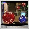 휴일 걸기를 위한 장식적인 LED 3D 크리스마스 공 빛