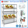 Commercial Used 4 Layers ajustável Steel Vegetable Display Rack