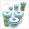 Runder Nahrungsmittelmittagessen-Kasten, Plastiknahrungsmittelbehälter Frisch-Halten