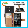 Flip Monedero Bolsa de cuero con ranura para tarjetas de Huawei P9