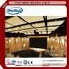 Les excellents matériaux décoratifs sains d'Aborbing ont courbé considérable acoustique de cloison de plafond de fibre de verre utilisé dans le cinéma