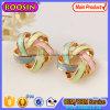 다채로운 리본 금 귀걸이, 여자 #B136를 위한 합금 귀 장식 못 귀걸이