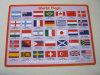 Word Flag Printing PP Desk Pad Placa de plástico impressa em PVC
