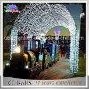 Luzes brancas do motivo do arco do diodo emissor de luz da decoração do parque do Natal do diodo emissor de luz