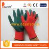 Нейлон красного цвета Ddsafety 2017 с зеленой перчаткой нитрила