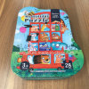 Il documento di imballaggio del regalo di puzzle di festa ha modellato la casella di carta riciclata casella di puzzle del cartone per scatole
