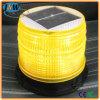 Luz de advertência de piscamento psta solar ambarina do estroboscópio do diodo emissor de luz do brilho elevado