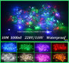 a corda do Natal do diodo emissor de luz 10m 100 ilumina a luz da decoração do festival