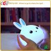 Nachthelle Farben-ändernde Silikon-Schlafzimmer-Lampe des Kaninchen-LED