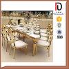 Нержавеющая сталь высокого качества стула венчания гостиницы банкета Gloden роскошная обедая стул