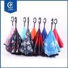 O interior Windproof invertido creativo do guarda-chuva Calor-Transfere o reverso da impressão