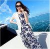 Юбка шифоновой юбки длины слинга платья пляжа платья богемской литературоведческая малая свежая флористическая