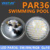 Diodo emissor de luz impermeável GU10 claro de 12V PAR36 para a piscina