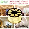los 60LEDs/M 220V 5050 luz de tira flexible de tres bases LED impermeable