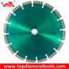 Laser Welded Diamond Blade con Turbo Type Segments para Cutting Granite y Concrete