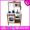 Cozinha de madeira nova do jogo 2014, cozinha popular do jogo do brinquedo dos cabritos, fábrica ajustada W10c045c da cozinha do jogo da venda crianças quentes