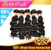 выдвижение 100% человеческих волос волны перуанской красивейшей девственницы 7A глубокое Lbh 171