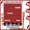 1/3 소니 Exview에는 CCD 널 단위 Sony4140+633 650tvl 0.0001lux 38X38X10mm가 있었다