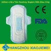 Madame serviette hygiénique de Chiped de bleu de 245mm pour l'usage de jour