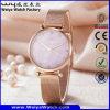 Orologio della donna del regalo del quarzo della cinghia di cuoio di OEM/ODM (Wy-070A)