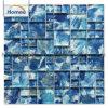 Mozaïek van het Glas van het Kristal van de Mengeling van het Patroon van de Kunst van de Verf van de Hand van de voorraad het Vierkante Blauwe Goedkope