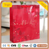 Bolsa de papel, bolsa de papel roja de la Navidad, bolsa de papel del regalo
