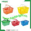 Panier à provisions en plastique de supermarché avec le double traitement