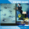 Claro grabado ácido estampados de flores cristal decorativo/ Arte de vidrio