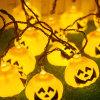 5m свет шнура тыквы украшения 30 СИД Haloween померанцовый