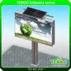Luzes dianteiras ao ar livre de potência solar que anunciam o quadro de avisos
